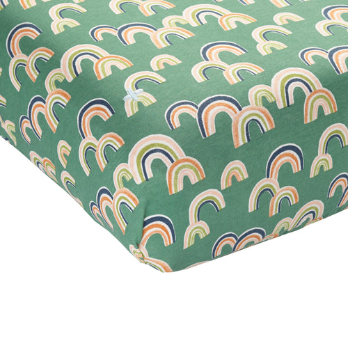 Rainbow Baby Fitted Sheet Cot Sea