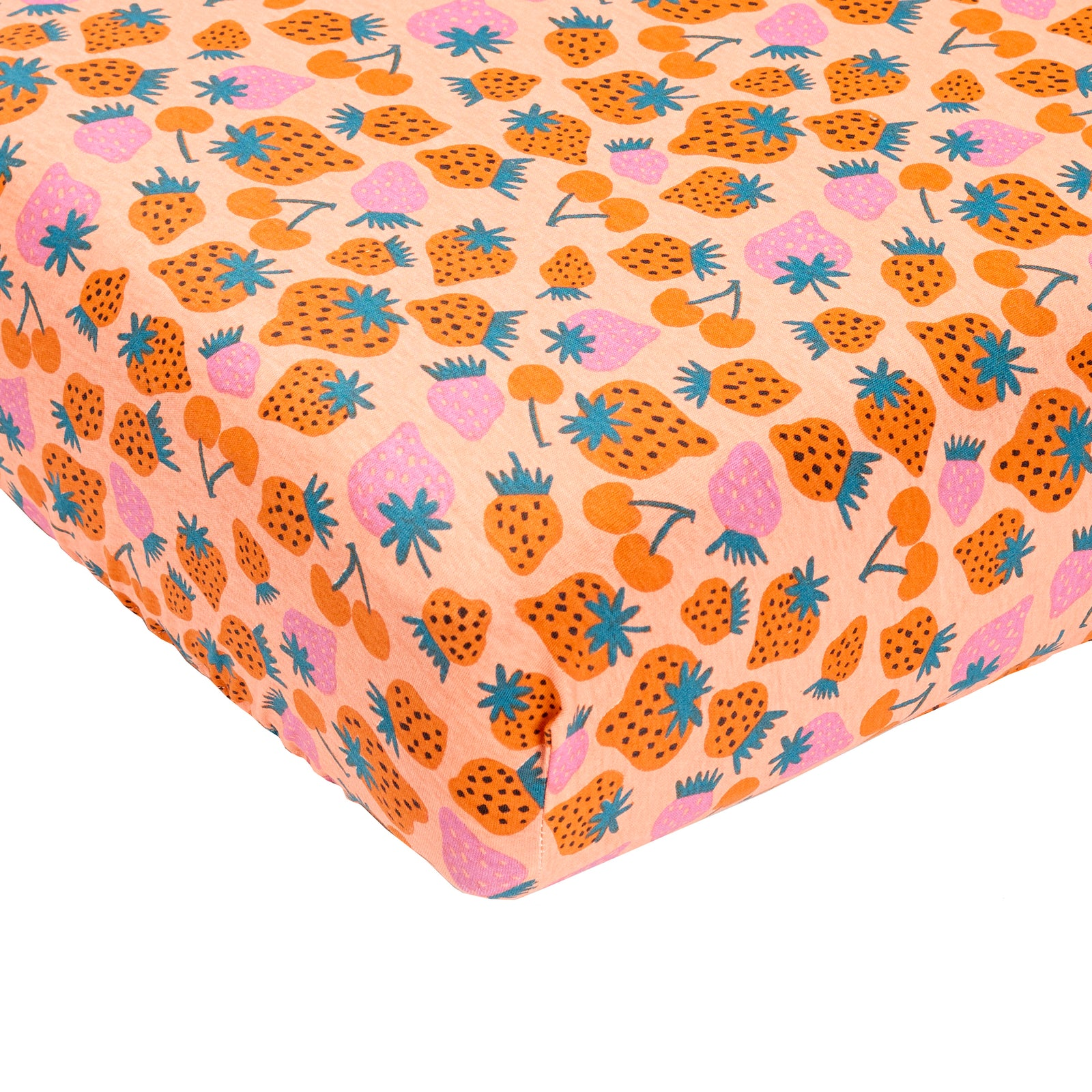 Strawberry Patch Fitted Sheet Cot