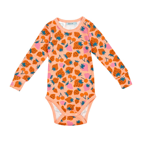 Strawberry Patch Long Sleeve Bodysuit