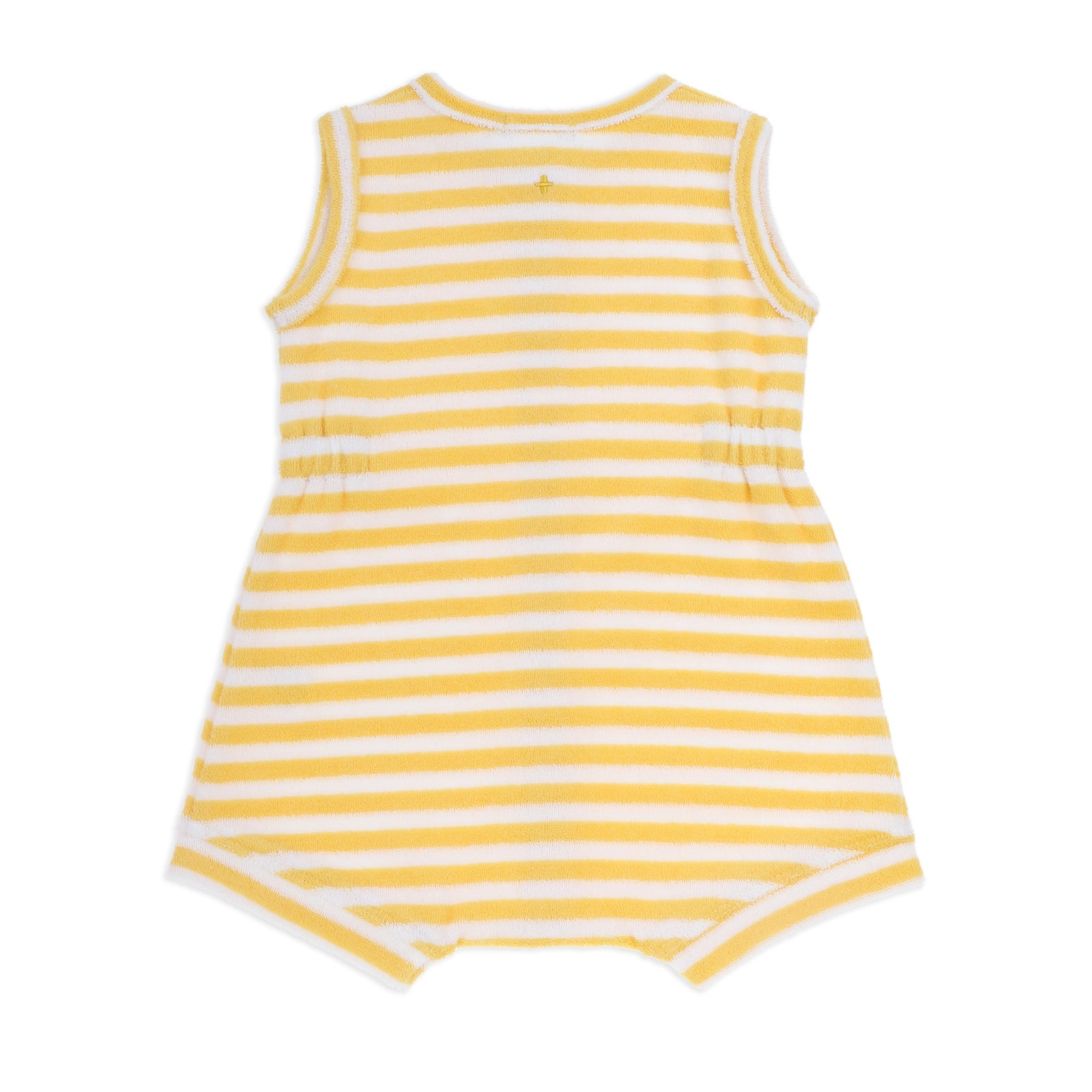 Tony Terry Towelling Romper Yellow Stripe
