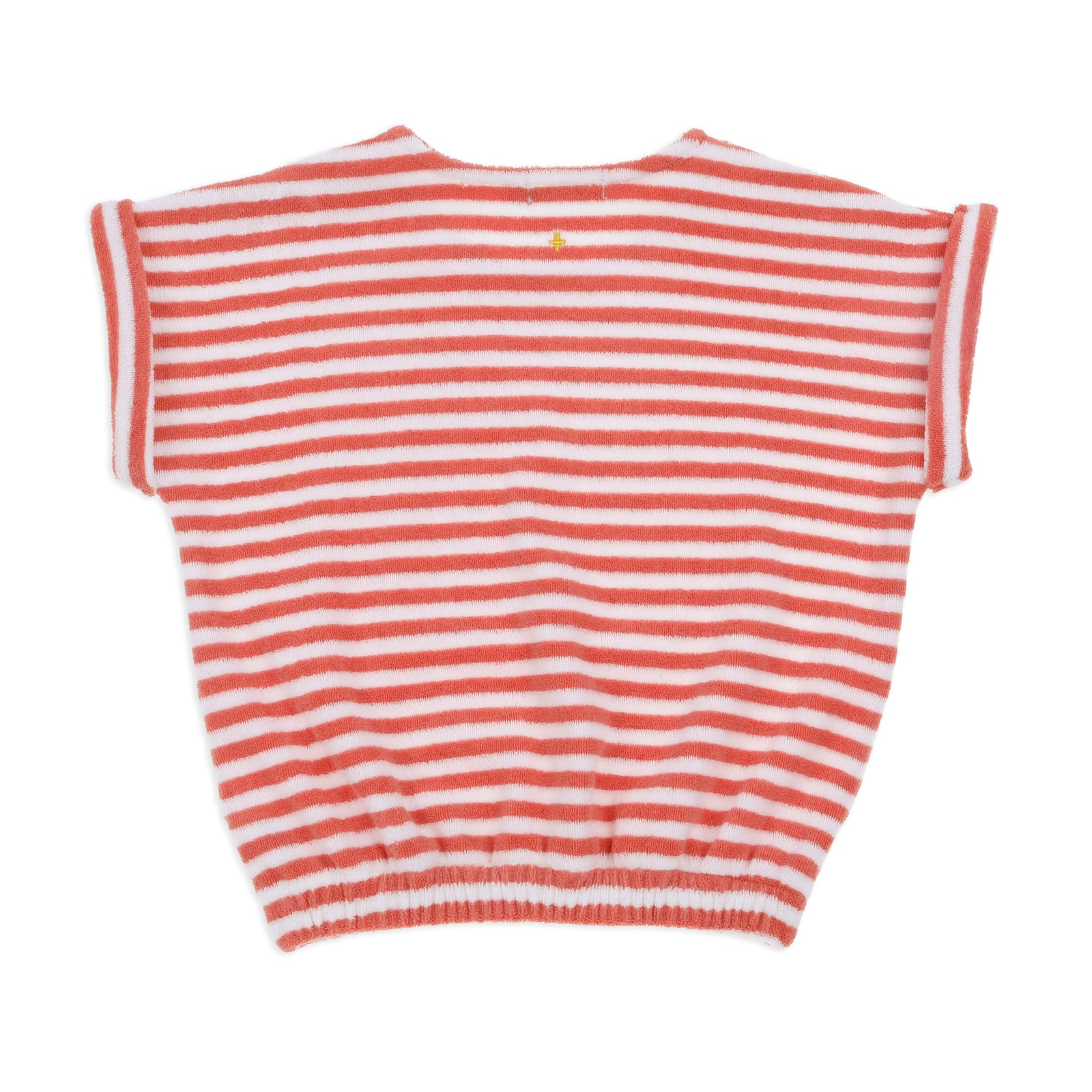 Wyatt Terry Towelling Tee Melon Stripe