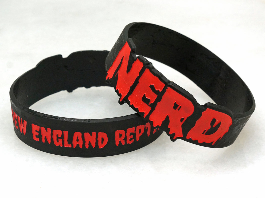 Red & Black Die Cut New England Reptile Wristbands