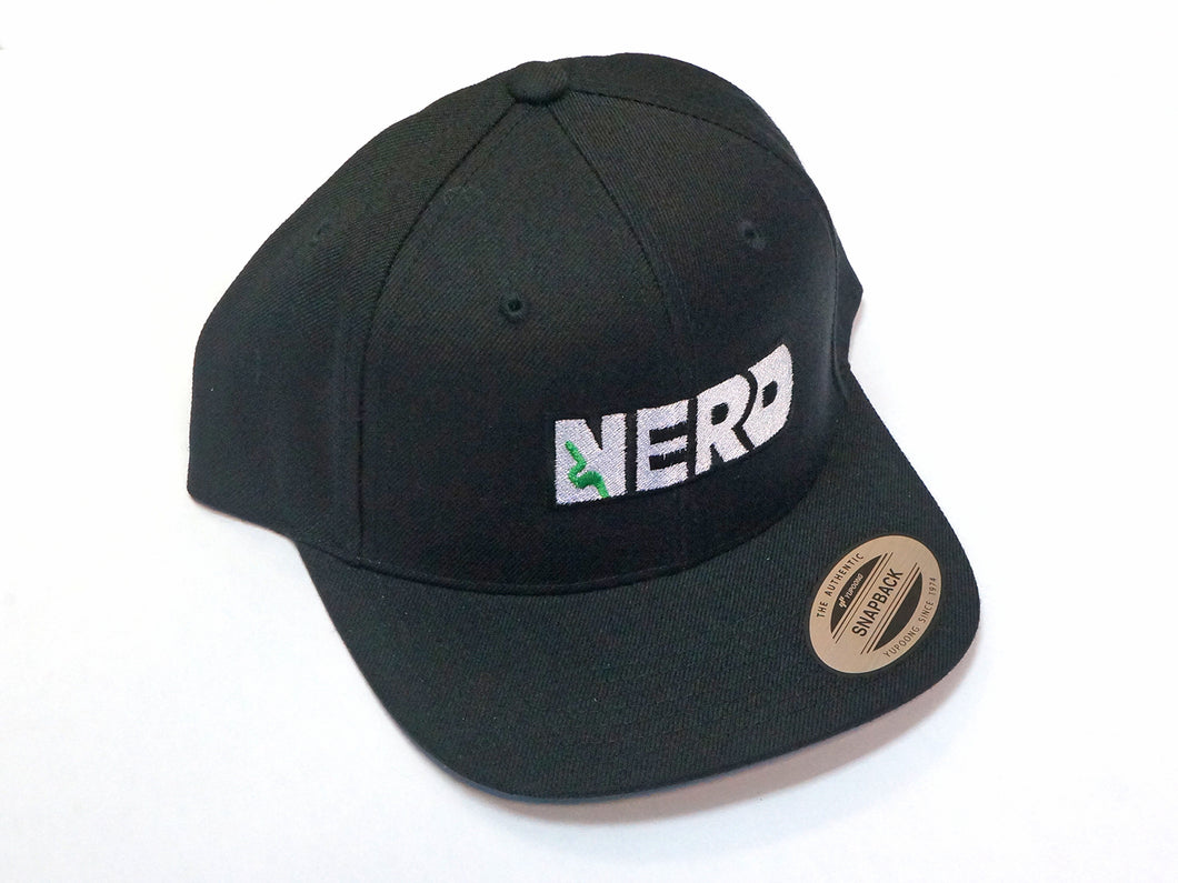 Snapback Centered NERD Logo Hat