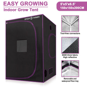 Spider Farmer Grow Tents (All Sizes) - GrowDaddy