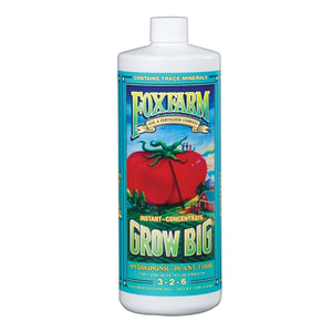 Fox Farm Nutrients: Grow Big Hydroponic Liquid Concentrate - GrowDaddy