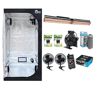 The Living Room 4 x 4 Grow Tent With *NEW* Mars SP-3000 LED Basic Kit - GrowDaddy
