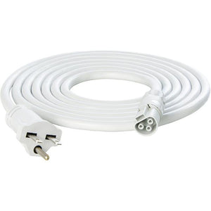 10' PhotoBio X White Cable Harness, 16AWG, 110-2120V, Plug 5-15P - GrowDaddy