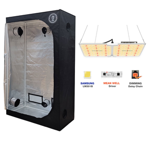 2x4 Living Room Grow tent With Spider Farmer Sf2000 LED Grow Light - GrowDaddy
