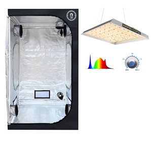 5x5 Living Room Grow tent With Mars TS3000 LED Grow Light - GrowDaddy