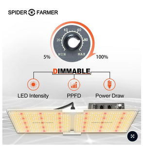 Spider Farmer: SF 2000 LED Grow Light With Dimmer Knob - GrowDaddy