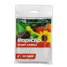 "RapiClip Plant Labels 4"" 50 pack - GrowDaddy"