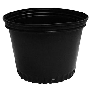 Black Plastic Planter Pots - GrowDaddy