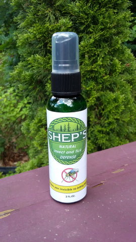 Shep's All Natural, Deet Free Insect, Tick and Mosquito Defense safe for children and pets 2oz SPRAY