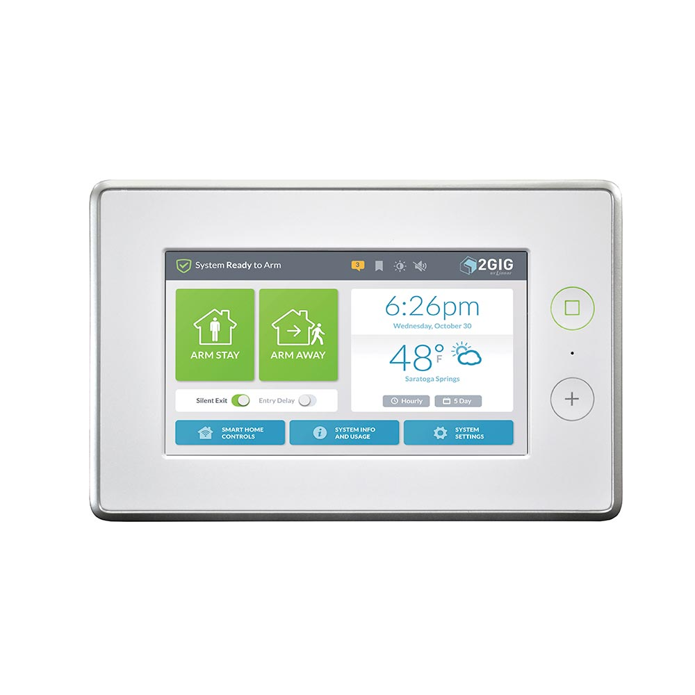 2GIG GC3 Home Security Touch Panel with Audio Alerts