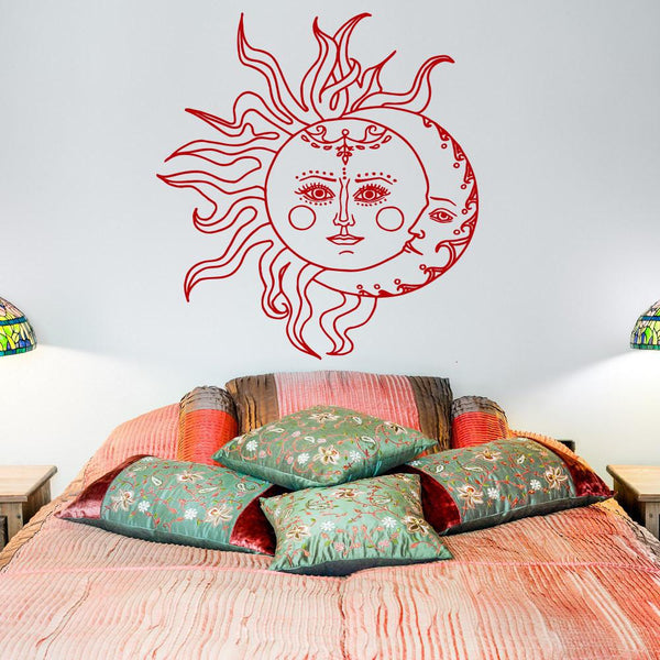 Sun And Moon Wall Decal Art