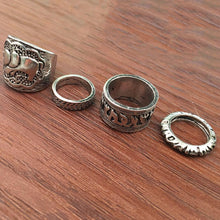 4 Piece Vintage Ring Set - Roots and Sticks