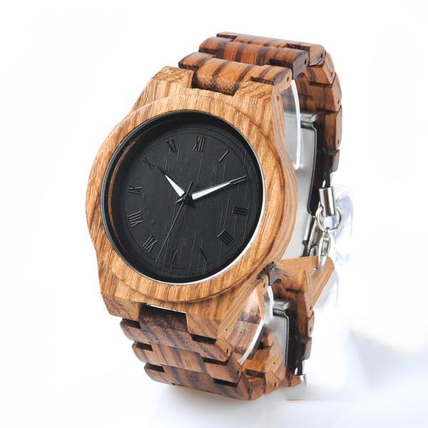 Vintage Zebra Wood Quartz Watch - Roots and Sticks