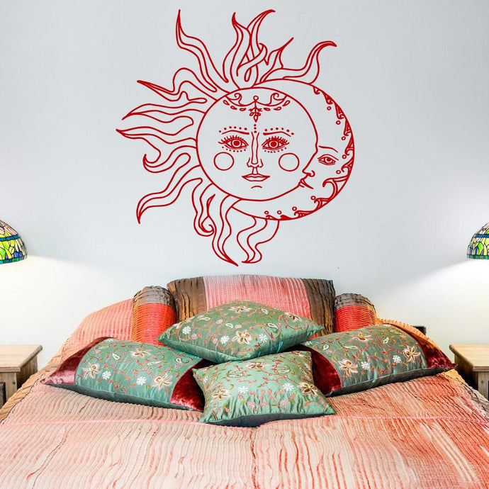 Sun And Moon Wall Decal Art - Roots and Sticks