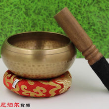 Copper Tibetan Meditation Singing Bowl with Handstick - Roots and Sticks