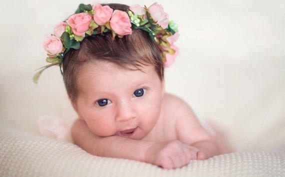 Boho Flower Headband Newborn Flower - Roots and Sticks