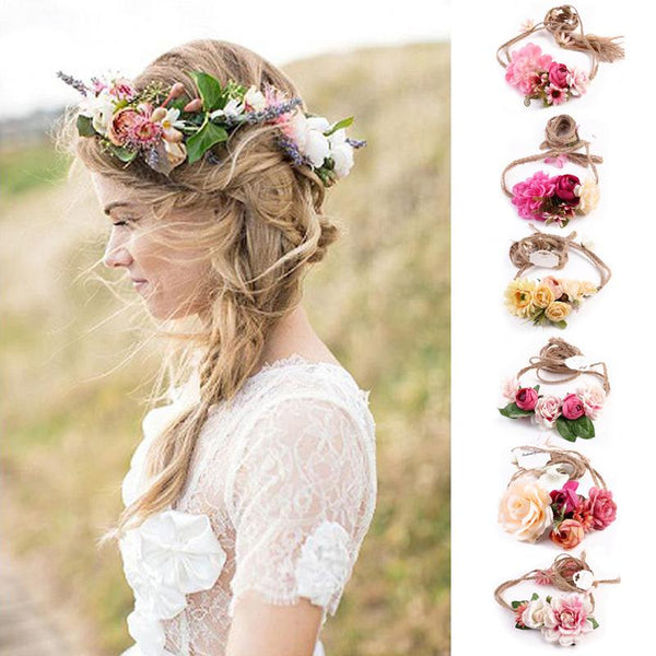Boho Flower Headband Wreath - Roots and Sticks