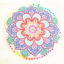 Vibrant Mandala Flower Blossom Pillow - Roots and Sticks