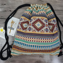 Bohemian Boho Chic Drawstring Day Back-Pack