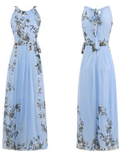 Floral Print Boho Maxi Dress With Sashes