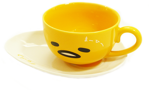 Gudetama Ceramic Cup with Saucer