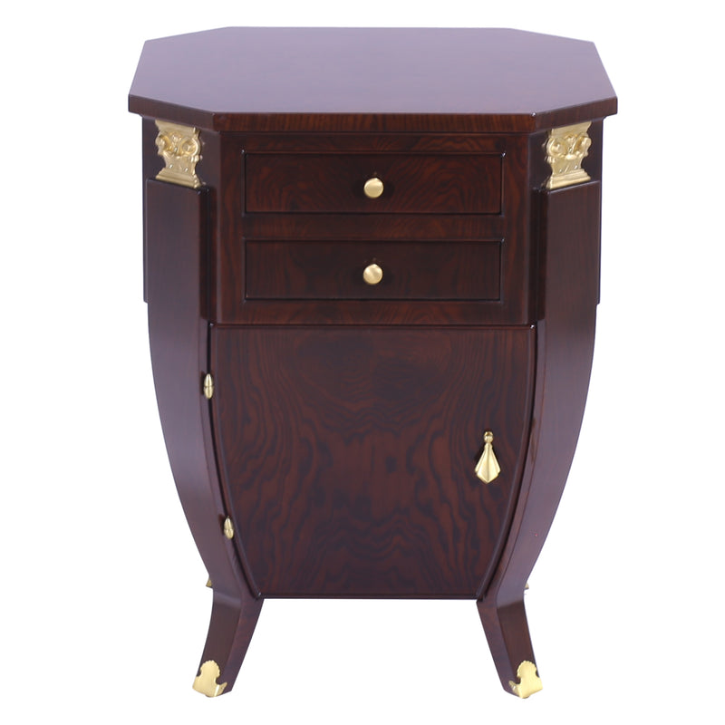 ART DECO BOMBE NIGHT STAND