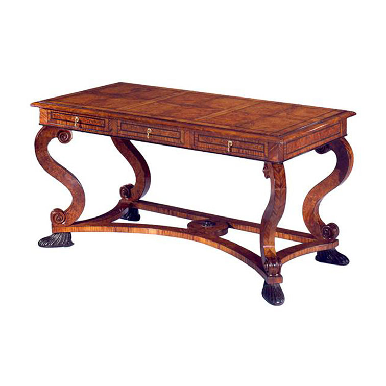 REGENCY SCROLL LEG DESK