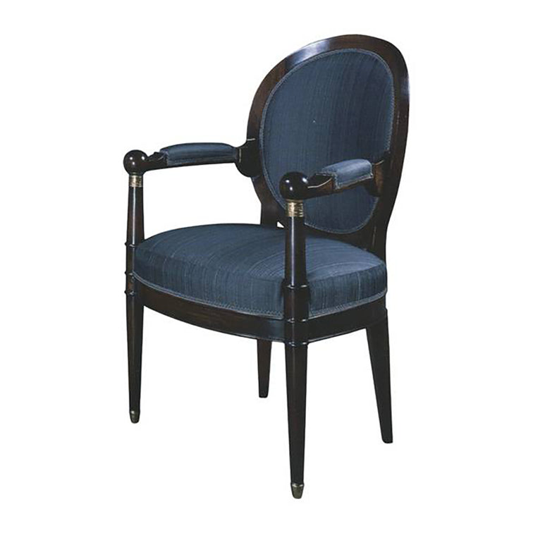 LOUIS XVI TRANSITIONAL OCCASIONAL ARMCHAIR