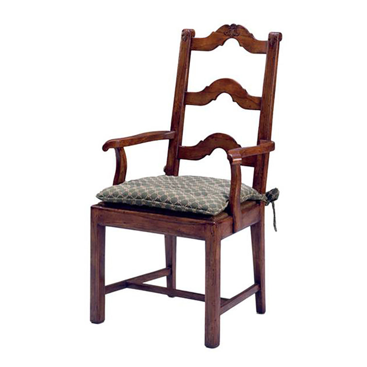 FRENCH LADDER BACK DINING ARMCHAIR