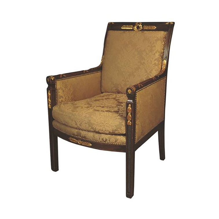 HAND CARVED DIRECTOIRE ARMCHAIR