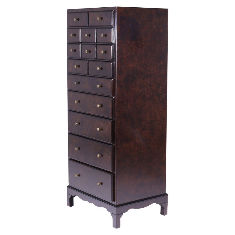 TALL ENGLISH REGENCY CHEST