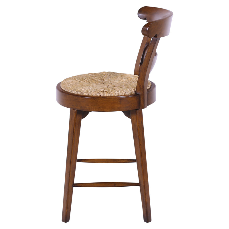 COUNTRY FRENCH HAND CARVED COUNTER STOOL