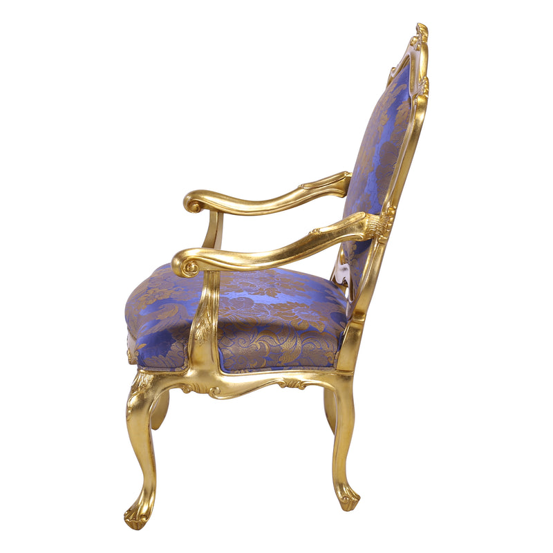 LOUIS XV STYLE VENETIAN OCCASIONAL CHAIR
