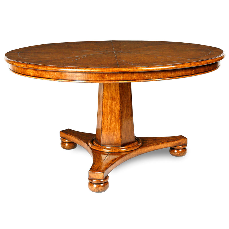 REGENCY PEDESTAL DINING TABLE