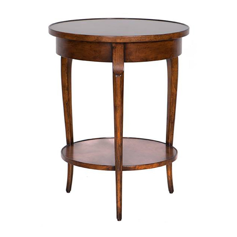 ROUND LOUIS XV TRANSITIONAL OCCASIONAL TABLE