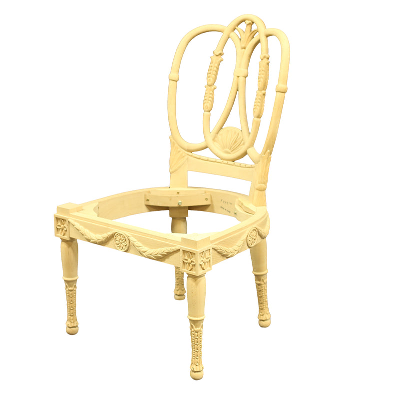 SWEDISH NEOCLASSICAL SIDE CHAIR RAW FRAME