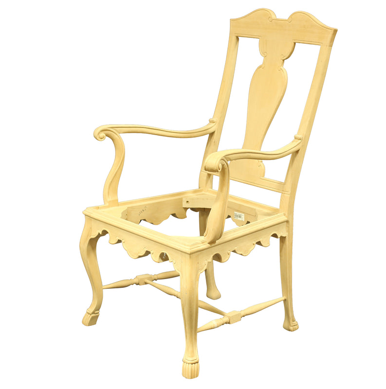 PORTUGUESE STYLE CHIPPENDALE ARMCHAIR RAW FRAME