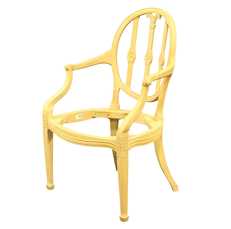 HEPPLEWHITE STYLE ARMCHAIR RAW FRAME