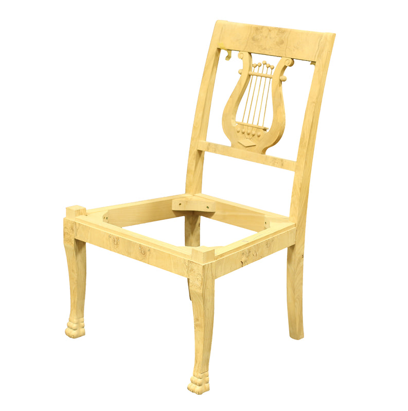 LYRE BACK SIDE CHAIR RAW FRAME