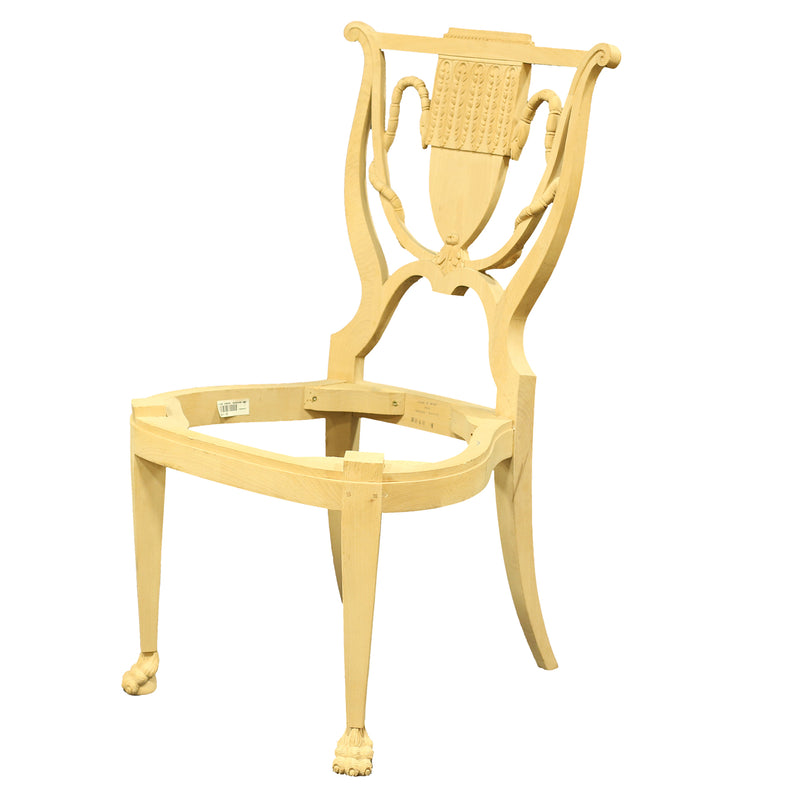 RUSSIAN NEOCLASSIC SIDE CHAIR RAW FRAME