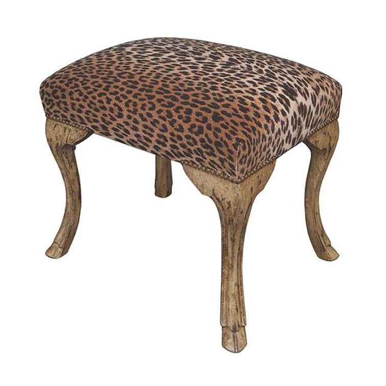 HAND CARVED HOOF FOOT BENCH
