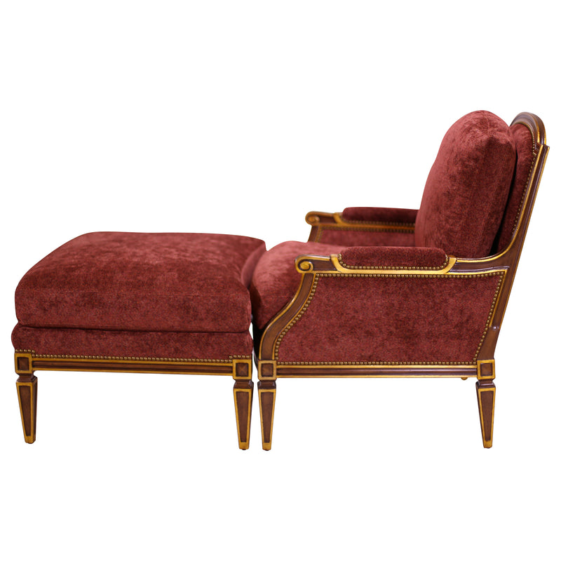 LOUIS XVI STYLE PILLOWBACK CHAIR