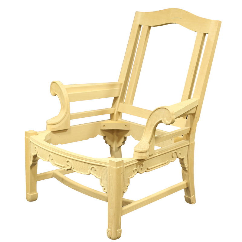 CHINESE CHIPPENDALE DINING ARMCHAIR RAW FRAME