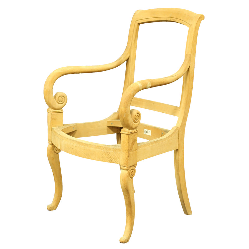 LOUIS PHILIPPE STYLE ARMCHAIR RAW FRAME