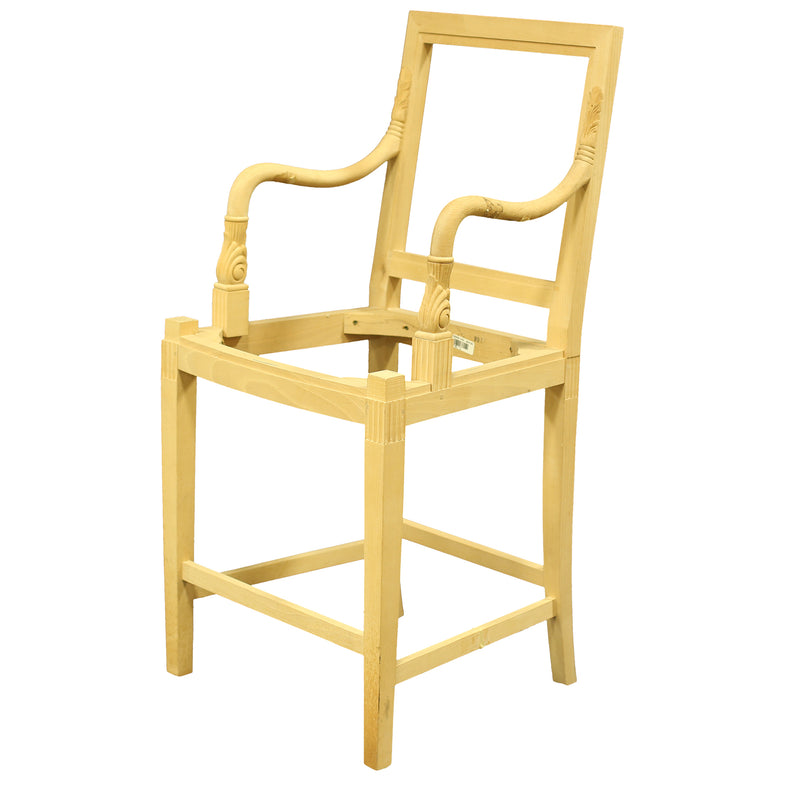 FRENCH EMPIRE BARSTOOL RAW FRAME