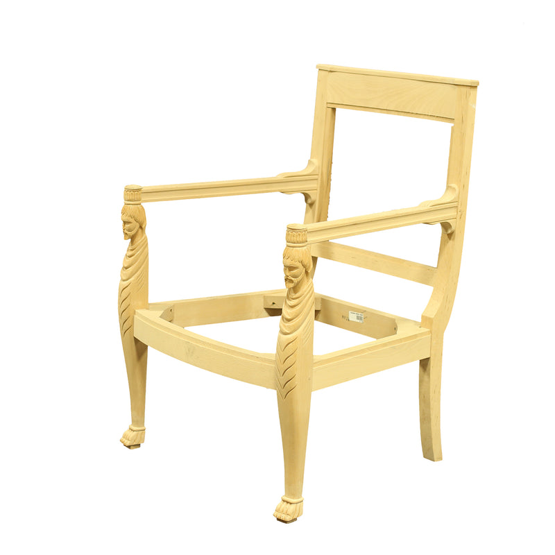 FRENCH EMPIRE ARMCHAIR RAW FRAME